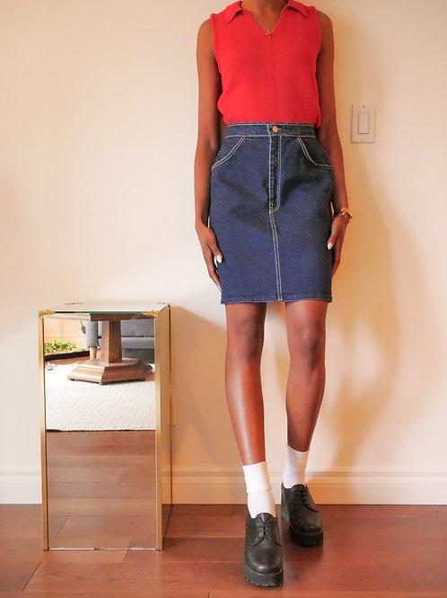 Denim Midi Skirt (4-6)