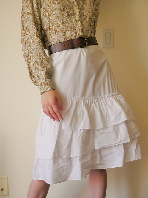 White Ruffle Skirt (6)