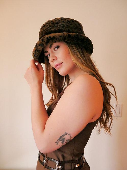 Fur Leopard Bucket Hat