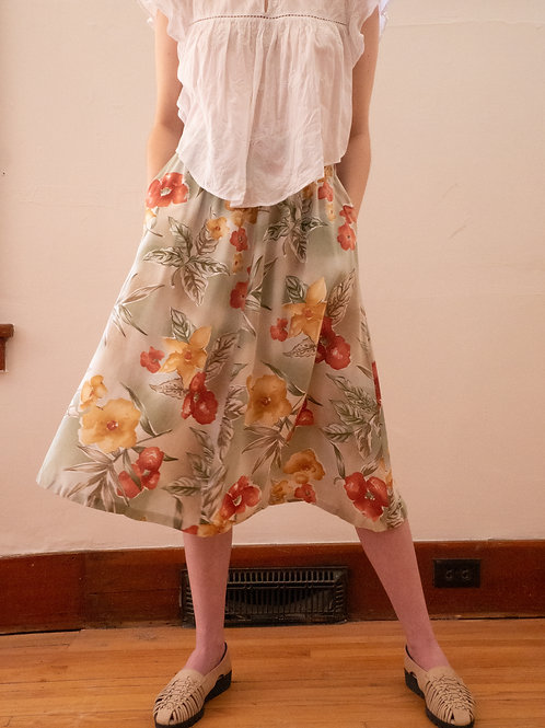 Flowy Floral Skirt (4-6)