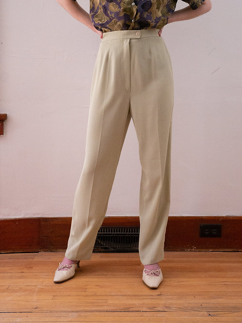Sage Silk Trousers (6)