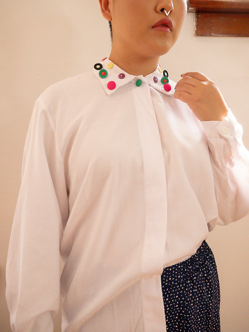 Button Collared Blouse (4-8)