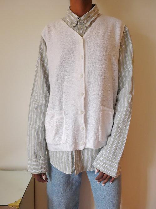 White Sweater Vest (S-L)