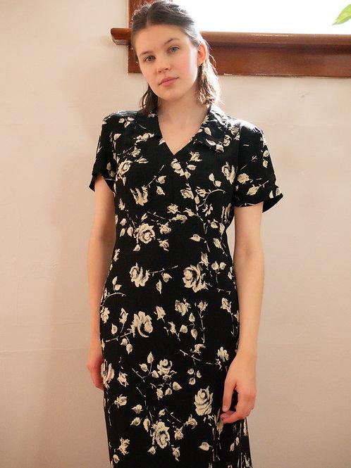 Noir Floral Dress (4-6)