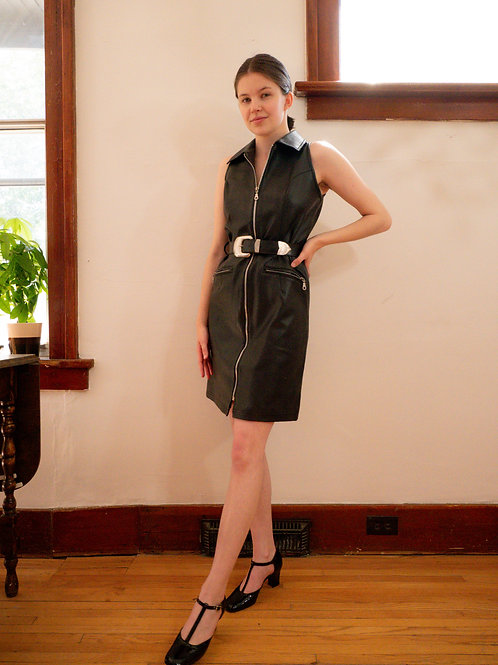 Faux Leather Dress (4-6)