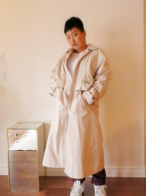 Cream Trench Coat (8-12)