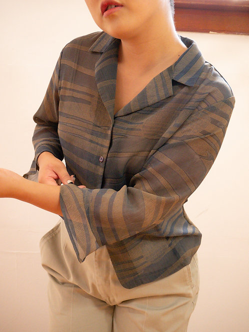 Sheer Striped Blouse (6-10)