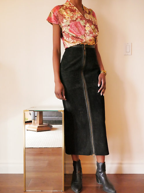 Suede Maxi-length Skirt (2-4)