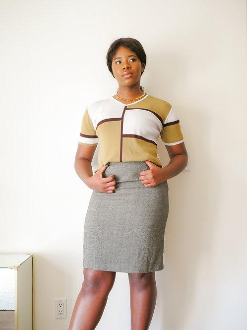 Gingham Wool Skirt (8-10)
