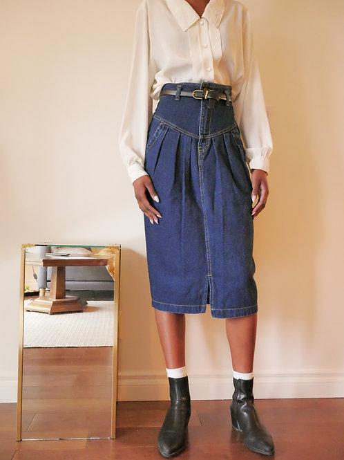 80s Denim Skirt (0-2)