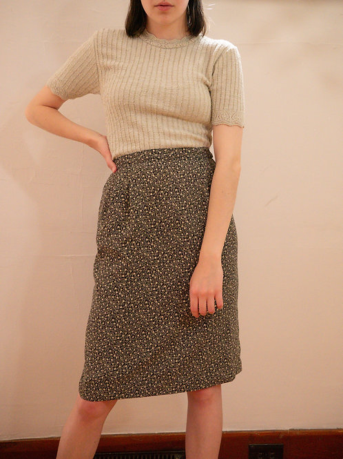 Patterned Midi Skirt (0-2)