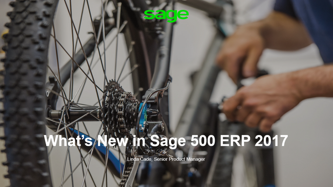 What's New in Sage 500 ERP