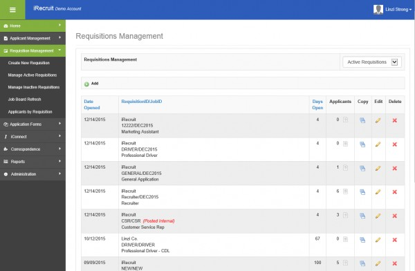 iRecruit Requisitions Management