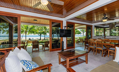 beach front luxury vacation home costa r