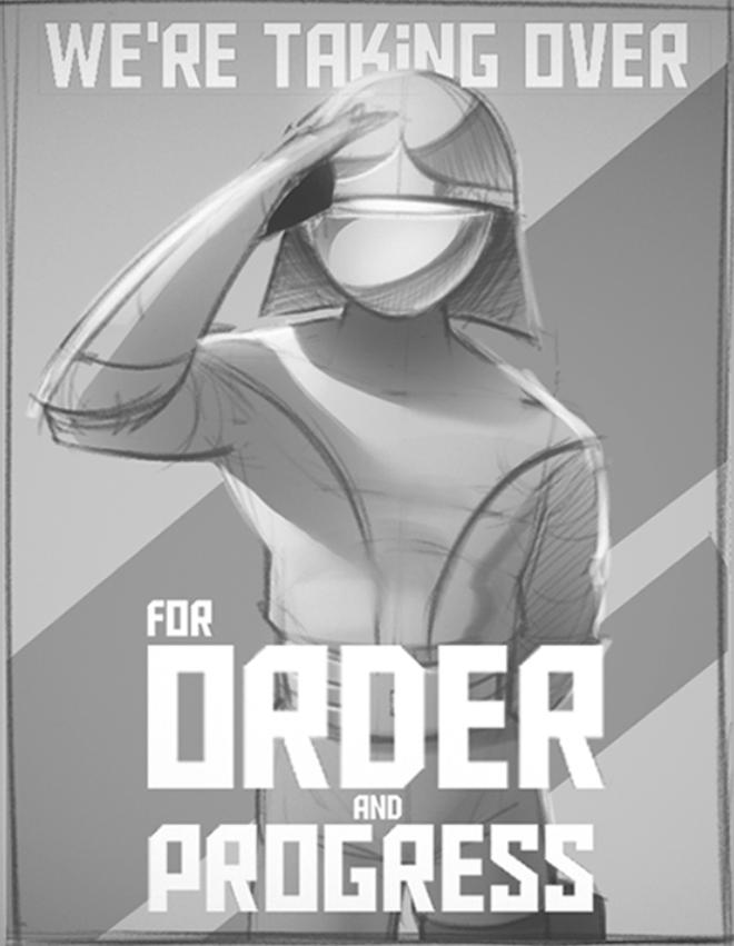 Military Propaganda Sketch
