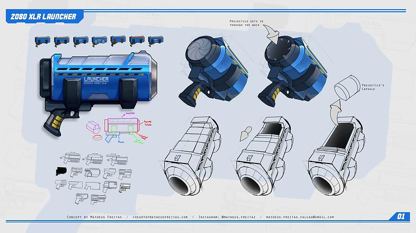 2080 XLR Launcher - Concept Design