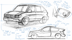 Vehicle Sketches from life