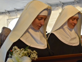 Two Founding Nuns take their First Vows on the Feast of St. Scholastica