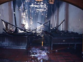 Arson! Catholic Churches set ablaze in California and Florida