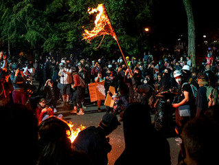 Antifa and BLM Burn Holy Bibles in Portland
