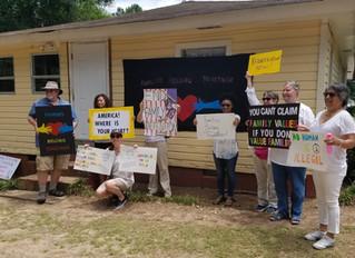Families Belong Together & Abolish ICE Protest at Stewart Detention Center, Lumpkin, GA