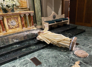 Sacred Heart of Jesus in St. Patrick's Cathedral Desecrated in El Paso