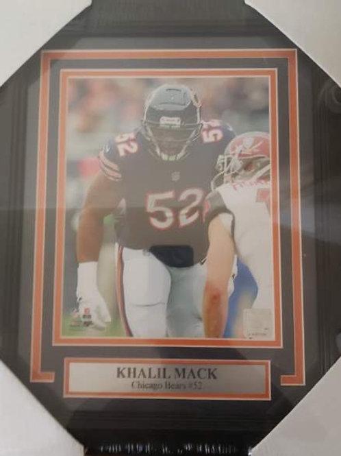DE Bears Khalil Mack Custom 11x14 Photo