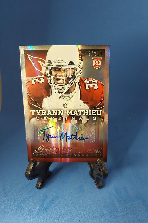 2013 Absolute Spectrum Silver Autographs Tyrann Mathieu Auto 05/299