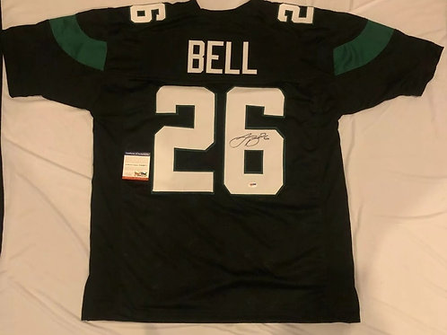 RB Le'Veon Bell Autographed/Signed Customs Jersey (JSA COA) New York Jets