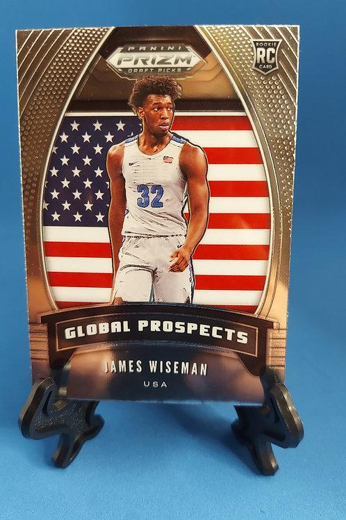 2020 Panini Prizm James Wiseman RC #32 Memphis Global Prospect Base