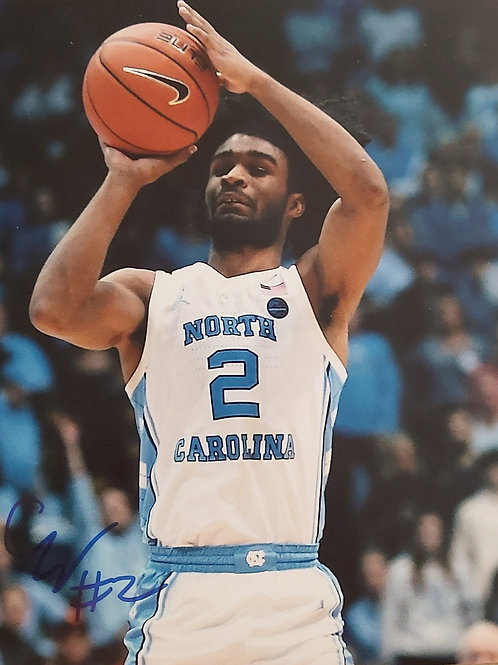 Chicago Bulls Coby White Autographed 8x10 Photo COA