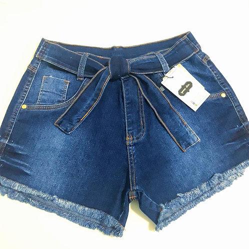 Shorts jeans detalhe cintura