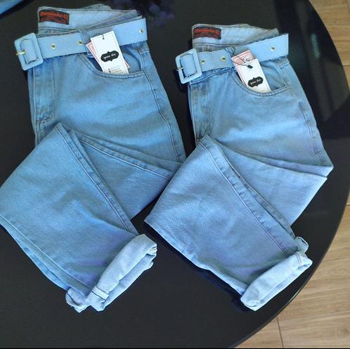 Calça jeans Mom com cinto Paty