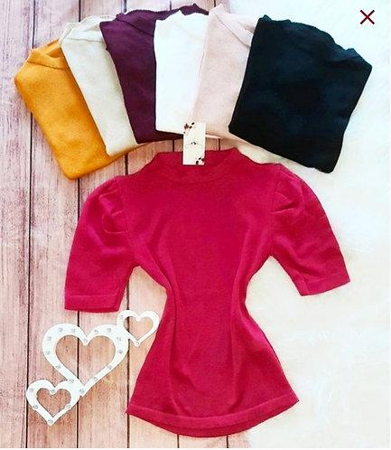 Blusa tricô manga bufante Rosy