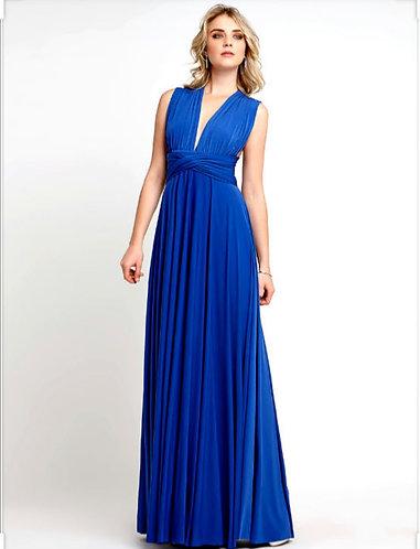 VESTIDO LONGO INFINITY DRESS AZUL