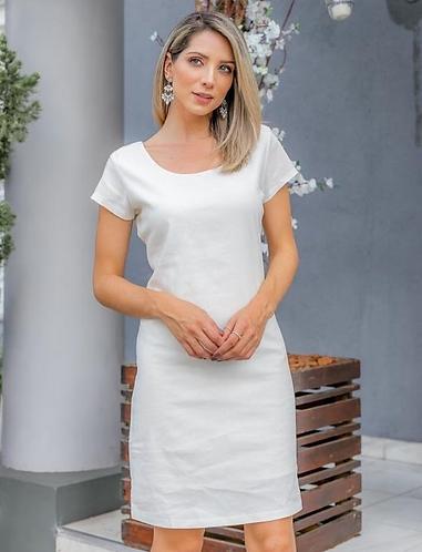 Vestido de linho clássico