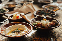 Lebanon cuisine served in restaurant