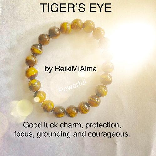 Tiger's Eye ReikiMiAlma Bracelet