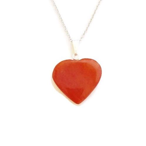 Heart Carnelian ReikiMiAlma Crystal Necklace