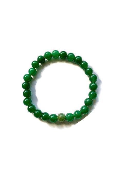 Green Aventurine and Jade Crystal Bracelet