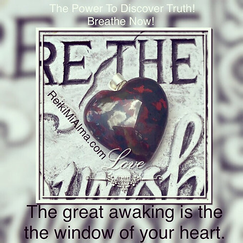 Bloodstone Heart ReikiMiAlma Necklace