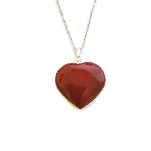 Heart Red Jasper ReikiMiAlma Crystal Necklace
