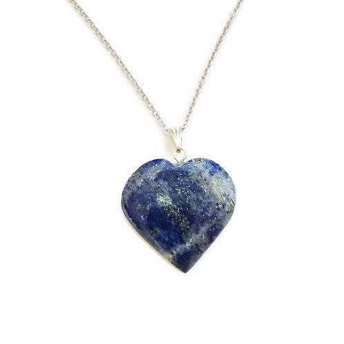Heart Lapis Lazuli ReikiMiAlma Crysral Necklace