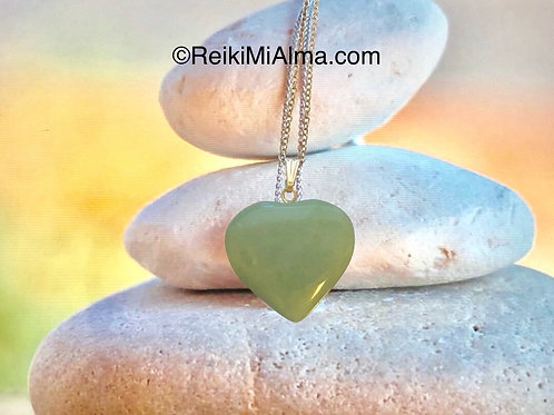 Heart Green Aventurine ReikiMiAlma Crystal Necklace