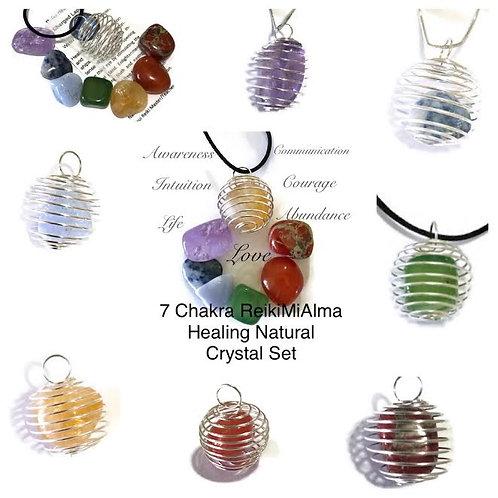 7 Chakras ReikiMiAlma Crystal Healing Set