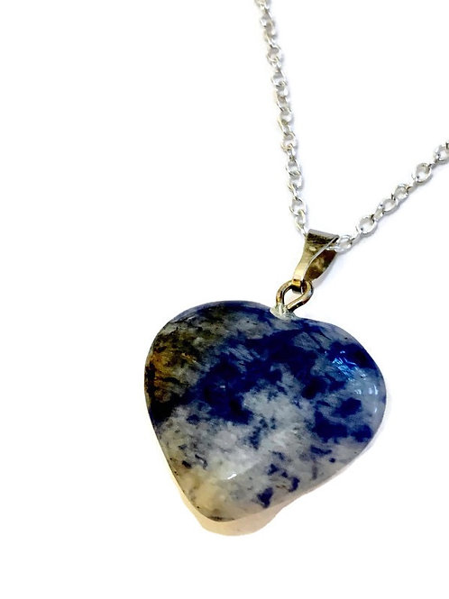 Sodalite Heart Reiki Necklace