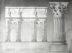 Monument architectural, colonne Corinthienne
