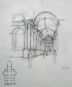 Venise. Intérieur d'un cathédrale