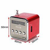 Радиоприемник FM/USB/TF TD-V26 (красный) — 350 рублей.