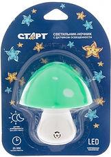 Светильник ночник СТАРТ  NL 1LED гриб по 65 рублей